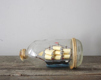 Vintage Ship in a Bottle