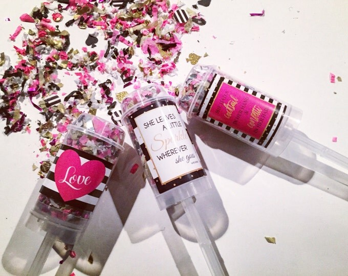 Featured listing image: Set of 5 - Kate Spade Confetti Poppers - Part Favors