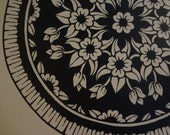 Mandala Doily Decal Mandalas Home Decor Wall Hanging Graphic Design Sticker Ceiling Mens Womens Gift Valentines Love Lace Wall Decor Flowers