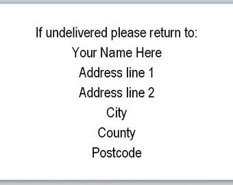 mini return address stickers - 65 stickers per A4 sheet