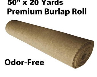 "50"" Sanitised, Odor-Free Burlap Roll (20 Yards)"