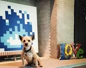 8-Bit Fireplace (Blue)