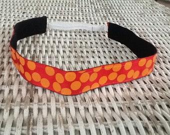 Red Orange Polka Dot Headband - Girls Comfortable Headband