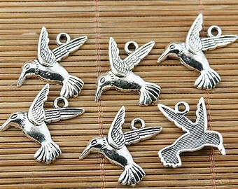 30pcs Tibetan silver flying bird charms EF1685