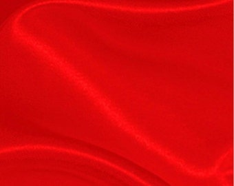 """Red Satin Solid Fabric - 60"""" Width"""