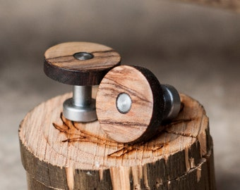 Mens Cuff Links Bethlehem Olive Wood - Staghead Designs
