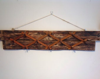 Unique upcycled vintage coat rack