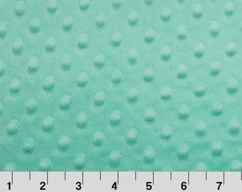 Minky Dot Fabric, Cuddle Dimple in Opal/Mint by Shannon Fabrics