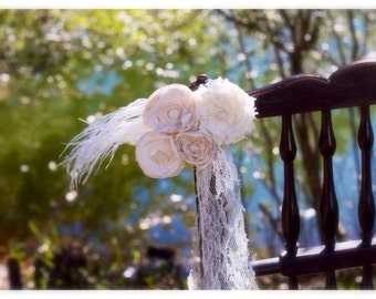 wedding aisle decoration, church decor, aisle decor, ivory and cream wedding decor, wedding table decor, wedding chair decor, pew ties