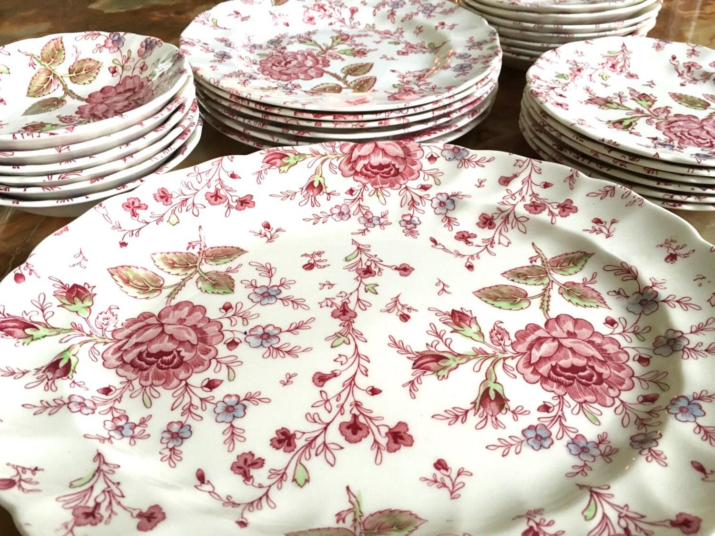 Offre sp ciale set petit d jeuner rose par for Set petit dejeuner porcelaine