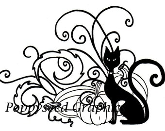 All Hallows Eve Digital Stamp by Lee Seed