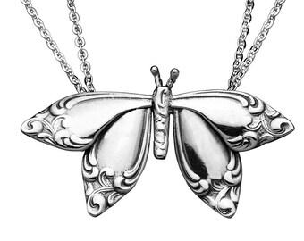 "Spoon Necklace: ""Butterfly"" by Silver Spoon Jewelry"