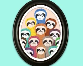 Sloth Family Portrait