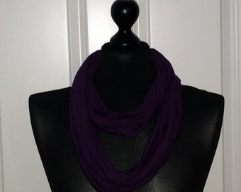 Jersey loop scarf purple violet