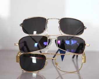 Vintage 90s Gold and Silver Frames, Frames Only. OPTICON'S. 3 Frames. OPTICON'S.  Made in Greece