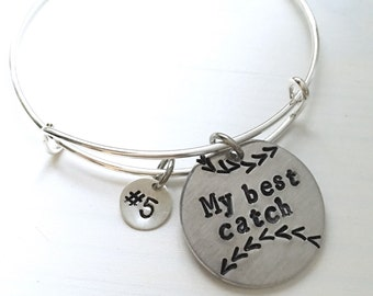 Baseball Fan Baseball Mom bangle bracelet