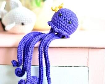 Crocheted Jellyfish Amigurumi Nursery Decor