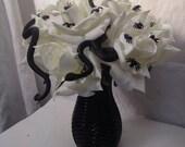 Artificial Silk Halloween Gothic Style Snake Spiders Rose Arrangement