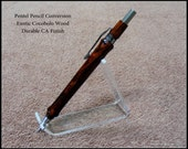 Exotic Cocobolo Wood Handcrafted Wooden Mechanical Pencil Made With Genuine Pentel Hardware - Choice Of Lead size .5mm  .7mm  .9mm