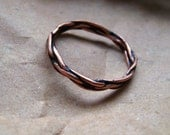 Copper Wire Wrapped Ring / Sizes 5-12