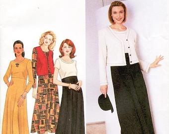 Simplicity Dress Pattern 7375 - Misses' Dress, Vest and Jacket - SZ 18/20/22 - Uncut