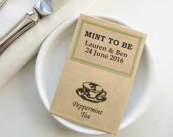 Rustic Wedding Favors Ideas-MINT TO BE-Wedding Tea Packets-Wedding Favours-Unique Wedding Favors-Wedding Favors for Guests-Weddings