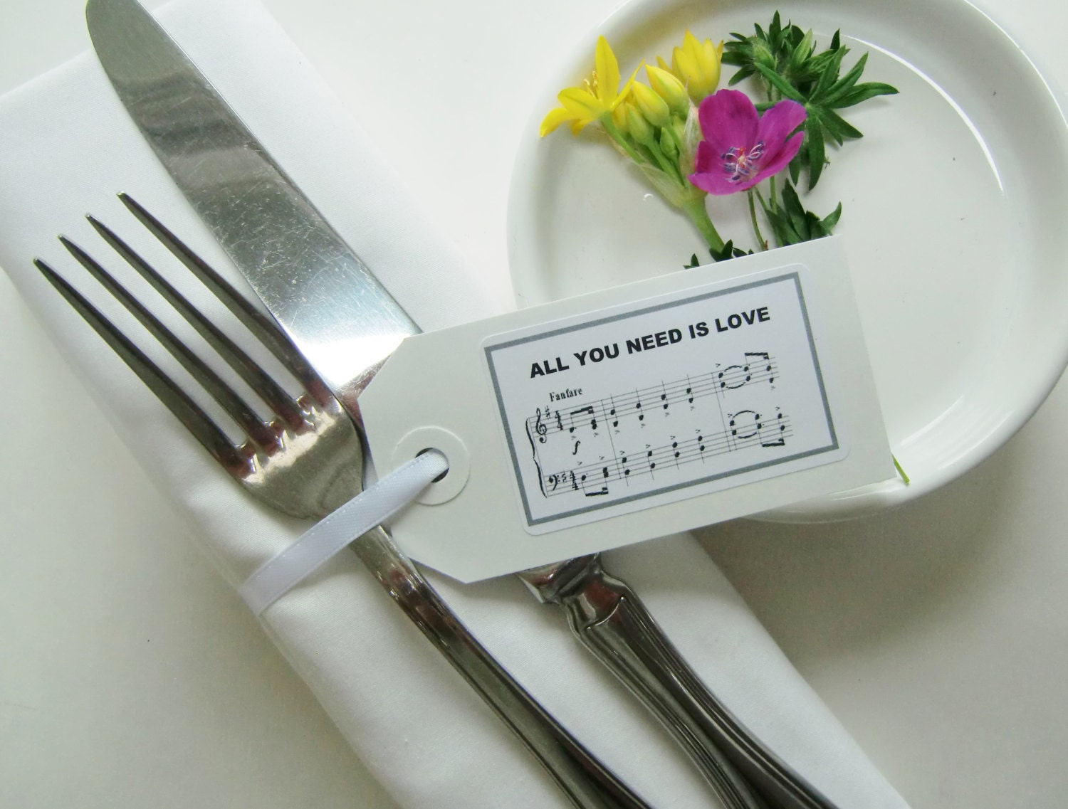 Wedding Table Decor-Wedding Napkin Ties-Wedding Favors-BEATLES MUSIC ...