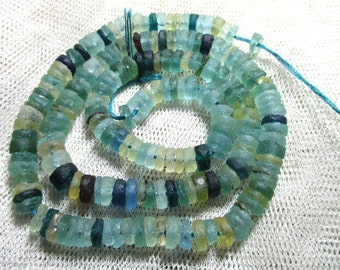 New Design Genuine Ancient Roman Fragment Glass Rondelle beads Thousands years oldR