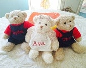 Personalized teddy bear handmade keepsake gift