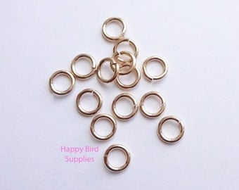 Gold Filled 5.8 mm Hard Snap Jump Rings... 10 pieces... 18 gauge