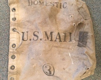 vintage us mail bag 1959