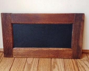 Price Reduction!Repurposed Antique Sewing Machine Cabinet Panel Chalkboard Oak
