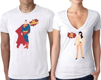 Superman Shirt, Couples Shirt, Super Hero Shirt, Comic Shirt, Comic couple shirt