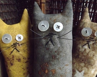 Primitive Cat Bowl Fillers Rustic Farmhouse Style Cottage Home Decor