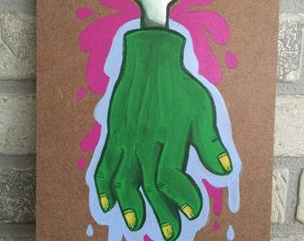 Zombie Original Painting