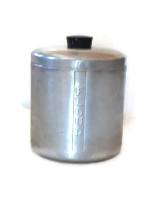 vintage aluminum flour canister 1950s canister vintage kitchen