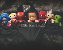 Superman for Newborn Boy Superhero Costume - Man of Steel - Photography Prop - Halloween - DC Comics, Boy Baby Shower Gift