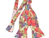 SALE - Men's Grapes Berries Fruit Self Tie Bow Tie - Adjustable With Hook & Loop