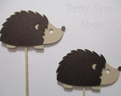 12 Hedgehog (5 color combinatons) Cupcake Toppers