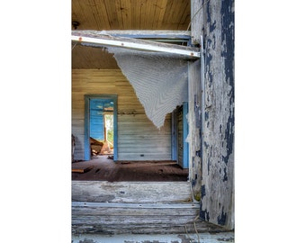 Rustic Home Decor, Abandoned Places, forgotten places, Vertical Wall Art, Abandoned home photo, Fine Art Photography, Large Wall Art