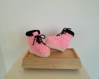 Baby Girl Work Booties Crochet Baby Booties Newborn Infant Crib Shoes