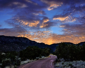 Albuquerque Sunrise Landscape Photograph Print 8x12 (and larger) Fine Art Photo Print, New Mexico Mountains Wall Art