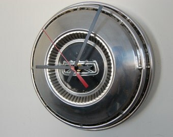 SALE****1950's Ford Poverty Dog Dish Hubcap Clock