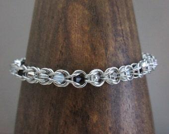 Chainmaille Swarovski Bracelet