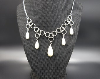 20% Off!! Pear Drop Chainmail Necklace