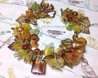 Pretty Autumn themed bracelet .