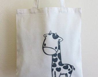 Giraffe Tote Bag, Reusable Bag