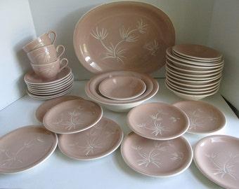 Large Set Harker Ware HARKERWARE Alpine pattern Harker Ware Platter Mid Century Dinnerware Sets 50s Dinnerware