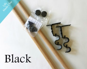 Book Sling Hardware and Dowels--Black, Bronze or Silver