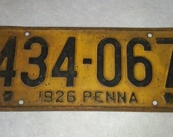 1926 Pennsylvania License Plates 434-067